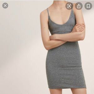 Aritzia community fitted tank dress dark grey M